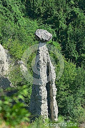 Natural pyramid near Zone, Lombardy, Italy, Europe