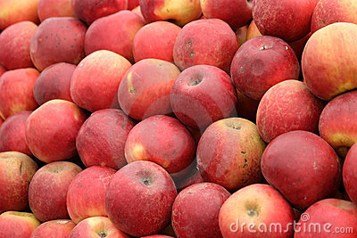 Natural red apples