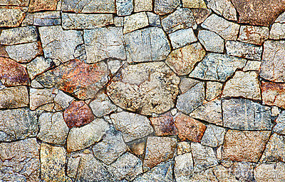 Natural rough stone wall - texture