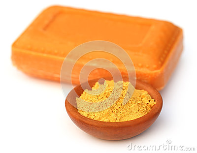 Natural sandal soapwith powder