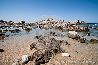 Natural sea landscape in Sardinia