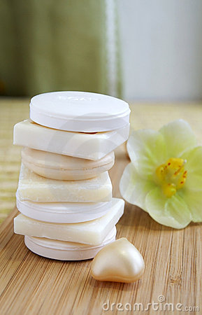 Natural soaps in a a beauty shop