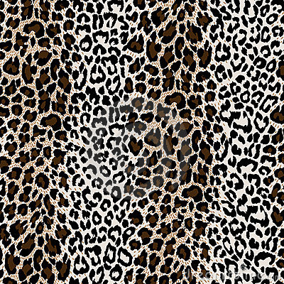 Natural textured leopard skin