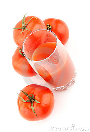 Natural tomato juice. Isolated