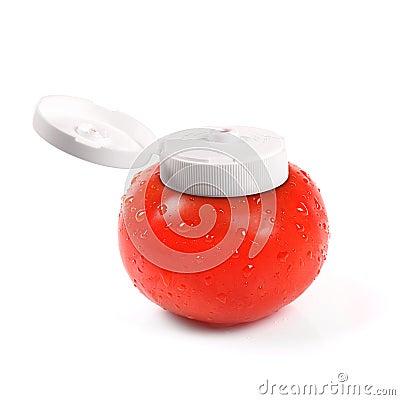 Free Natural Tomato Ketchup Container Stock Photos - 27501843