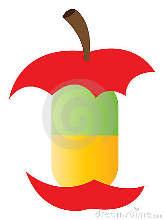 Natural vitamin pill - Apple