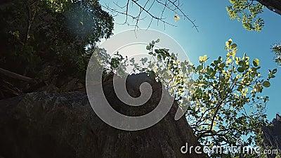 Naturaleza de Asia sudoriental crag almacen de metraje de vídeo
