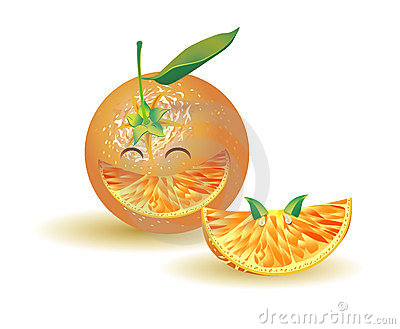 Naturalistic orange laughing