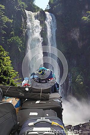 Nature adventure travel concept