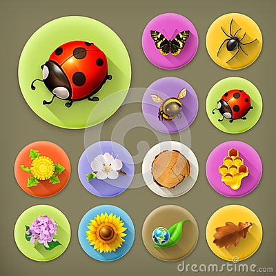 Free Nature And Ecology Icons Royalty Free Stock Photos - 57245868