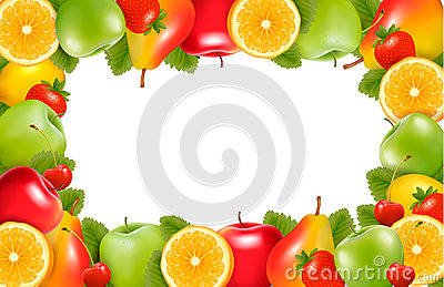 Nature background made of delicious ripe fruit