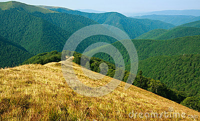 Nature background, view of the mountain range