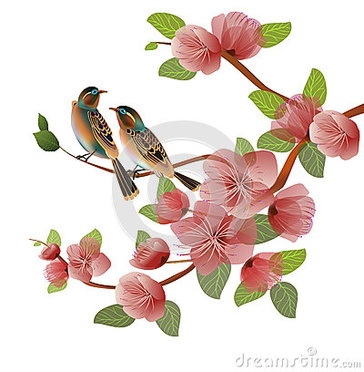 Free Nature Background With Blossom Branch Of Pink Sakura Flowers. Stock Photography - 94079462