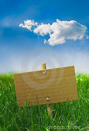 Free Nature Banner On A Green Grass And Blue Sky Stock Images - 10661284