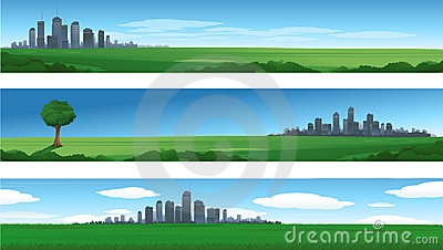 Nature cityscape background