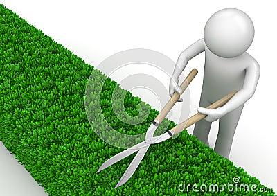 Nature collection - Gardener with garden shears