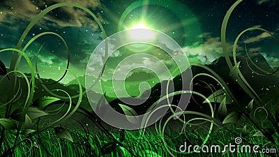 Nature Dream Landscape Scenic Space Animation. Video animation