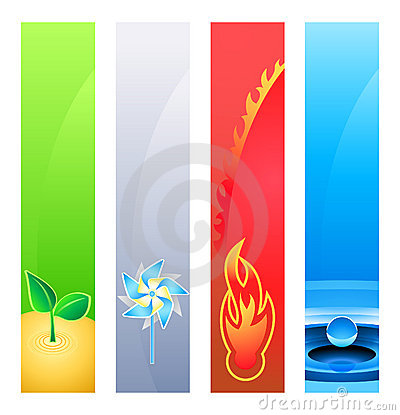 Nature element banners