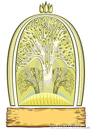 Nature emblem.