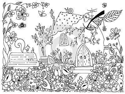 Nature Et Parcs Illustration De Conte De Fees Une Pomme