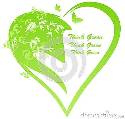 Nature heart vector