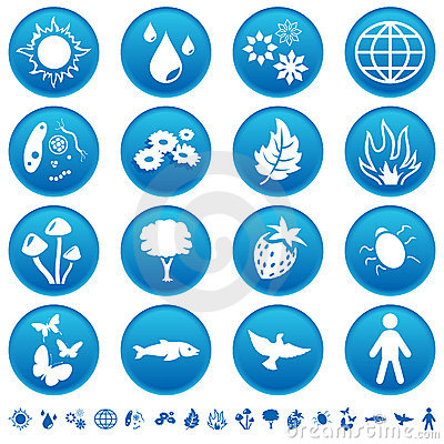 Free Nature Icons Royalty Free Stock Photography - 10693797
