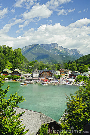 Nature landscape of beautiful lake scene Editorial Photo