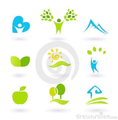 Nature, landscape, people and organic Icons