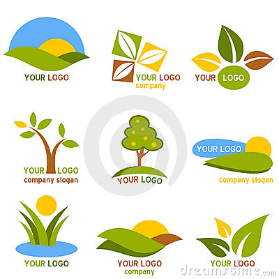 Free Nature Logos Set Stock Image - 18870941