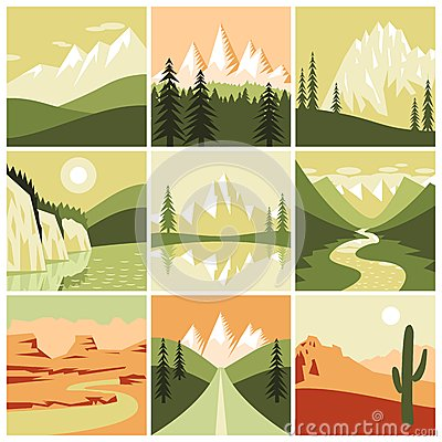 Free Nature Mountain Icons Royalty Free Stock Photography - 48754467