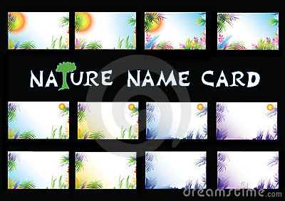 Nature name card