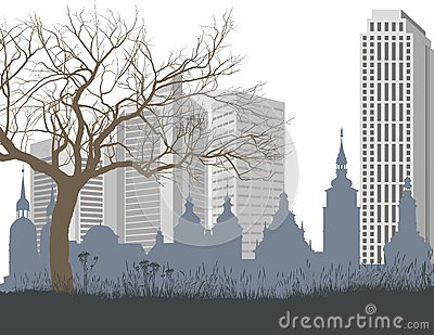 Nature, the old and new city