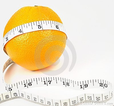 Nature orange with measuring line