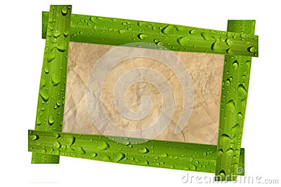 Nature photo frame isolated on white