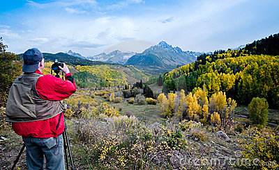 Nature photographer in Colorado