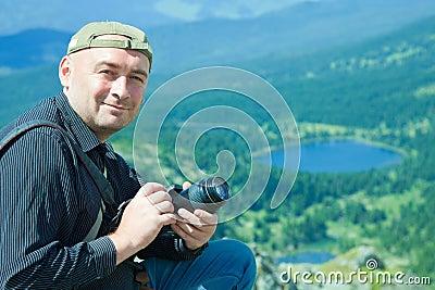 Nature  photographer  at mountains