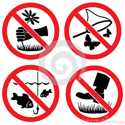 Free Nature Protection Vector Signs Royalty Free Stock Photography - 24802327