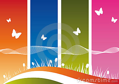 Bibidesign's - Nature's Silhouette on Colorful Background