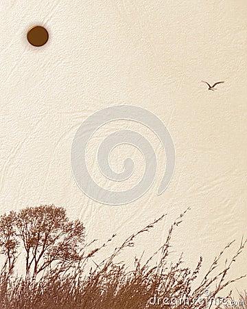Nature Scene - textured background paper