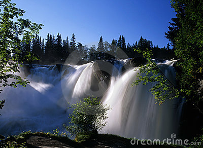 Nature scenery of waterfall