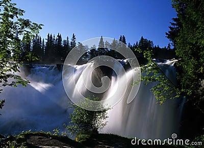 Nature scenery of waterfall