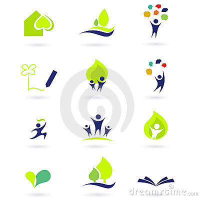 Free Nature, School And Education Icons Royalty Free Stock Photo - 16597295