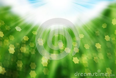 Nature spring bokeh background