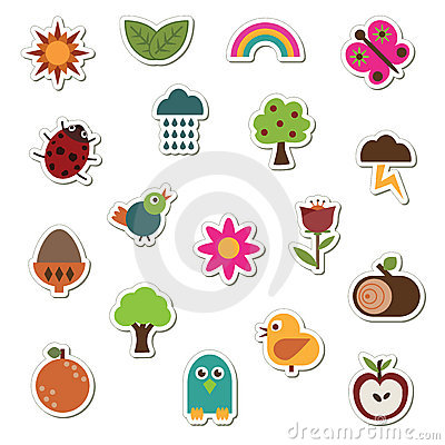 Free Nature Stickers Royalty Free Stock Images - 9650129