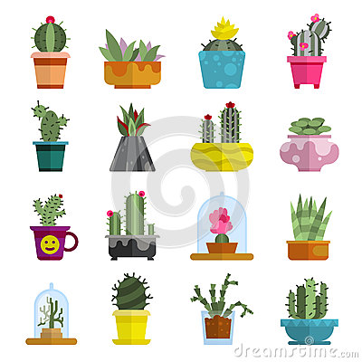 Free Nature Succulent Home Cactus Tropical Plant Vector Illustration. Stock Images - 91089154
