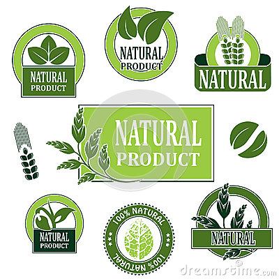 Nature symbols for natural product