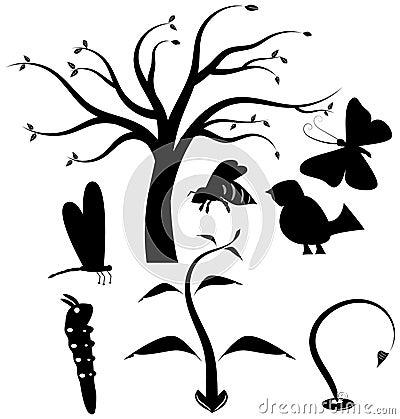 Nature vector icon set
