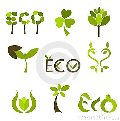 Free Nature Vector Symbols Or Logos Stock Images - 19978774