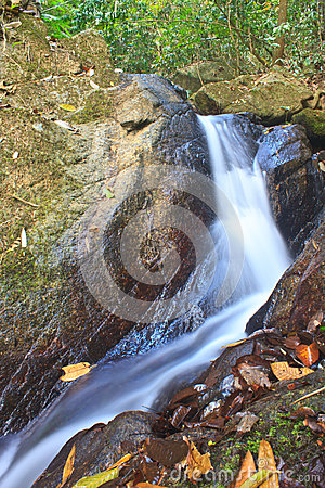 Free Nature Waterfall In Deep Forest Royalty Free Stock Image - 37690156