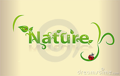 Nature word art
